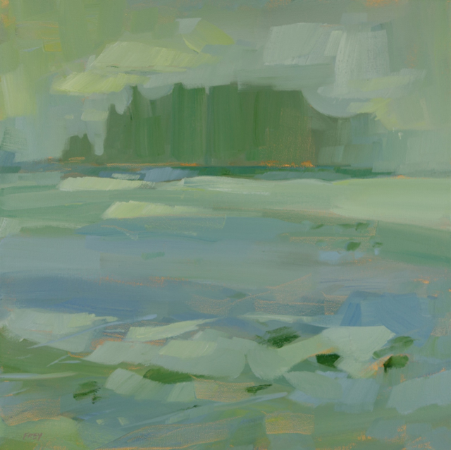 "Philip Frey | Misty Expanse | Oil | 18"" X 18"" 
