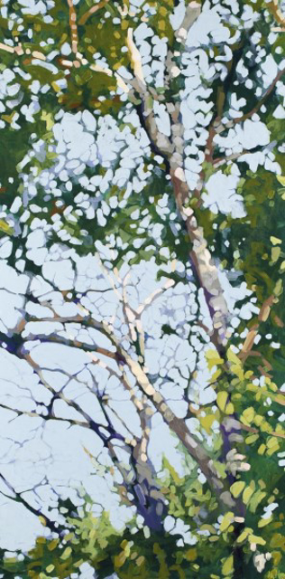 "Liz Hoag | Birch Tangle | Acrylic | 48"" X 24"" 