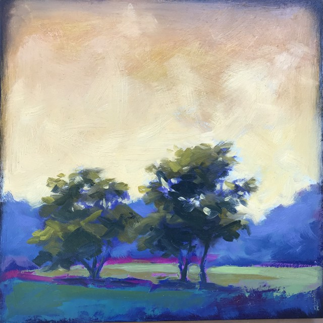 "Margaret Gerding | Playing with Colors | Oil on Panel | 10"" X 10"" 