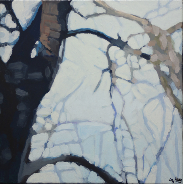 "Liz Hoag | Limbs VII | acrylic | 12"" X 12"" | Sold"
