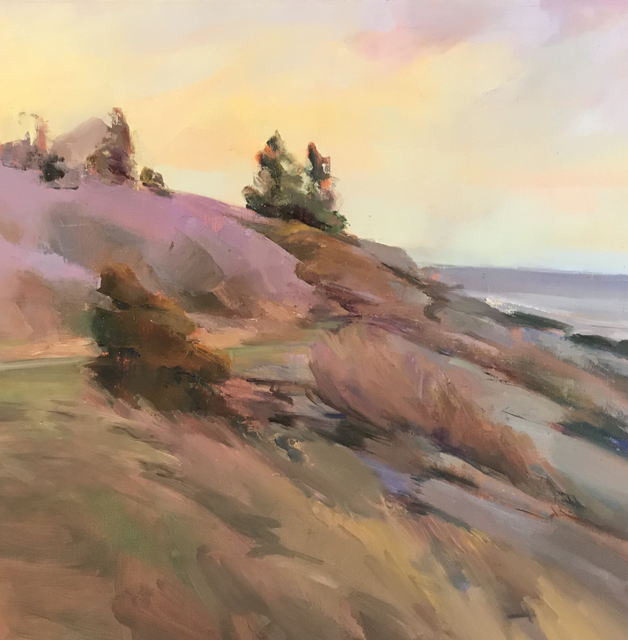"Holly Ready | Seaside Path | Oil on Canvas | 24"" X 24"" | $3,400.00"