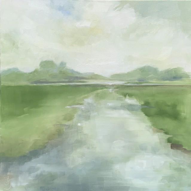"Ingunn Milla Joergensen | Cove Meditations 2 | Oil on Canvas | 30"" X 30"" | Sold"