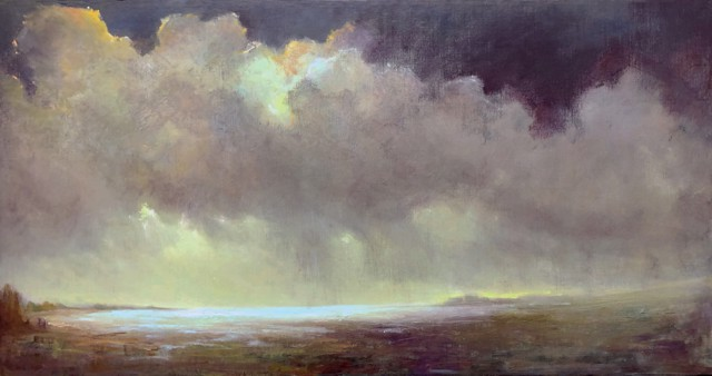 "Julie Houck | Tempest #2 | Oil on Linen | 24"" X 46"" | $4,200.00"