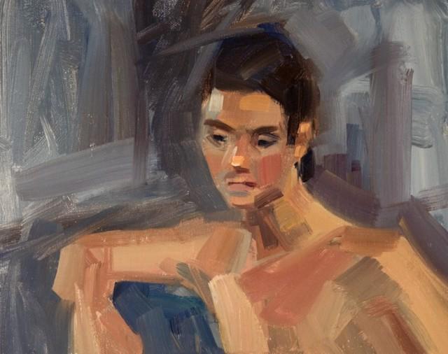 "Philip Frey | Wistful | Oil on Linen Panel | 8"" X 10"" | $900.00"