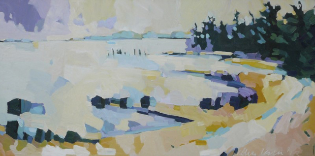 "Henry Isaacs | Winter, Sandy Cove | Oil on Canvas | 20"" X 40"" 