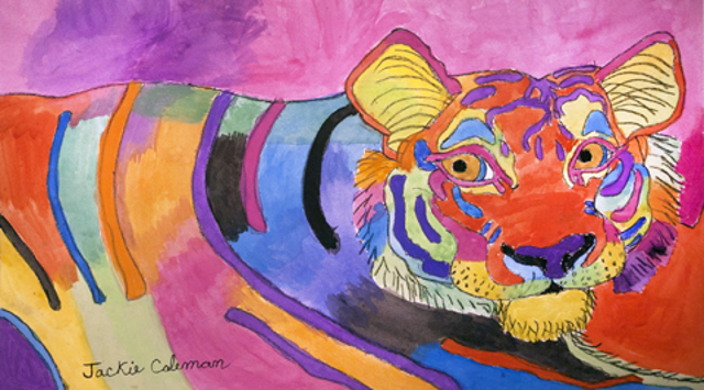 Lisa Frank's Dream Tiger (FRAMED)