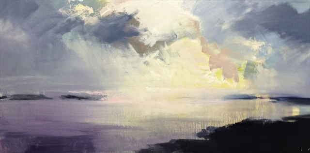 "Craig Mooney | Island Clouds | Oil | 18"" X 36"" 