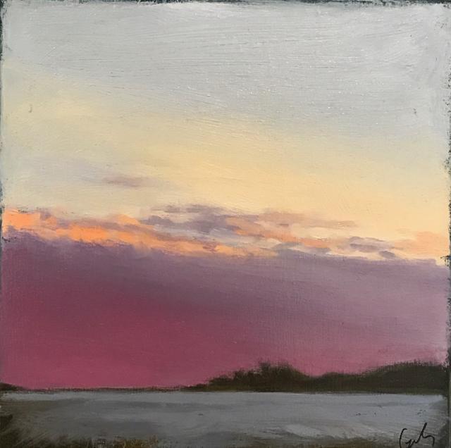 "Margaret Gerding | Timber Island I | Oil on Canvas | 10"" X 10"" | Sold"