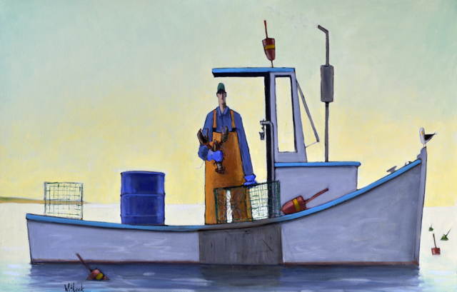 "David Witbeck | Keeper | Oil on Canvas | 26"" X 40"" 