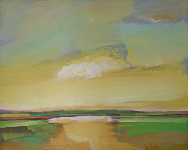 "Claire Bigbee | Daffodil Sunset | Oil | 16"" X 20"" 