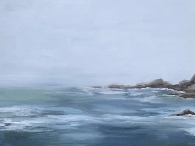 "Jill Matthews | Lifting Fog, Ocean Ave | Oil On Canvas | 36"" X 48"" | Sold"