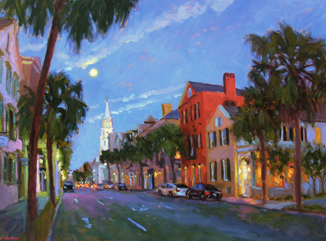 Moon Over Broad Street
