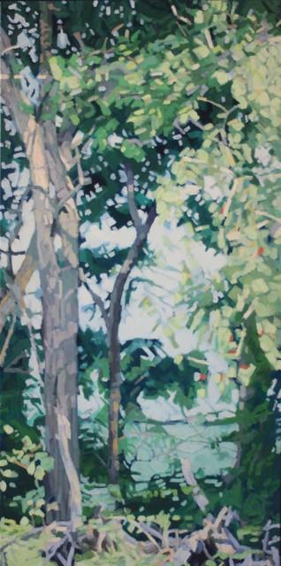 "Liz Hoag | Water's Edge #1 | Acrylic on Canvas | 48"" X 24"" | Sold"