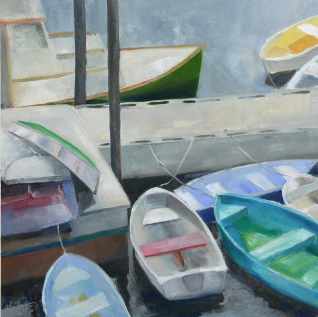 "Ellen Welch Granter | Cluster | Oil on Panel | 20"" X 20"" | $2,000.00"