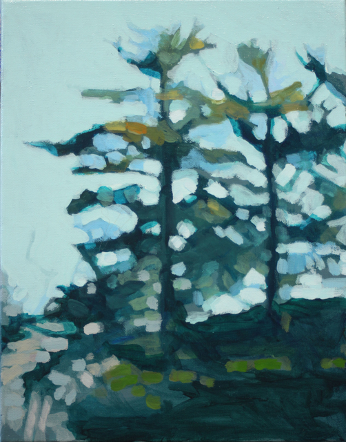 "Liz Hoag | Treeline VI | Acrylic | 14"" X 11"" | Sold"