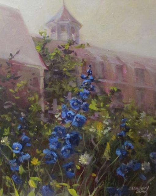 "Sandra L. Dunn | Monhegan Delphinium | Oil | 20"" X 16"" | $900.00"
