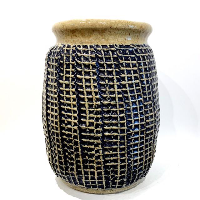 "Richard Winslow | Vase in Blue | Ceramic | 8.5"" X 6"" | Sold"