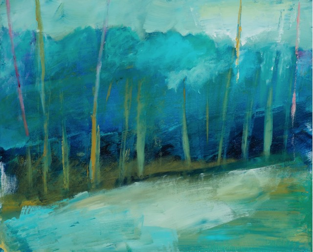 "Claire Bigbee | Deep Forest | Acrylic | 16"" X 20"" 