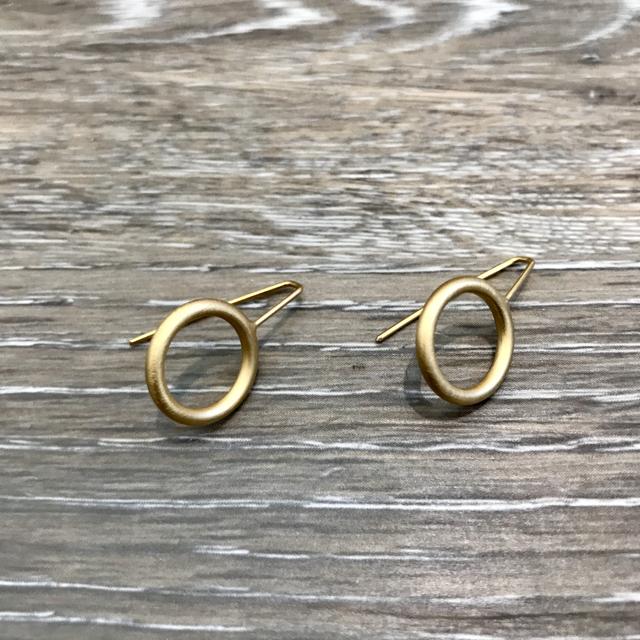Gold Plated Earrings: Mini Circle