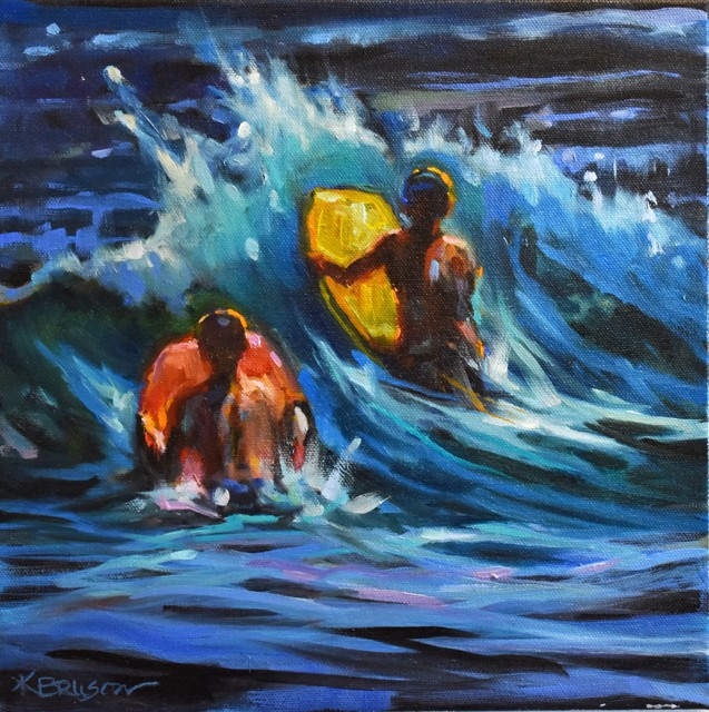 "Karen Bruson | Let's Boogie | Oil on Canvas | 12"" X 12"" | Sold"