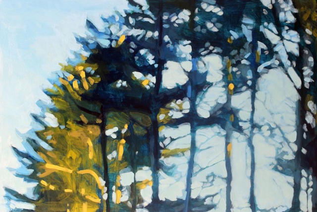 "Liz Hoag | Tree Tops | Acrylic | 24"" X 36"" 