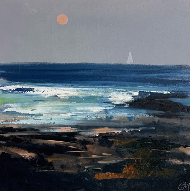 """Craig Mooney   Pink Moon   Oil on Canvas   24"""" X 24""""   Sold"""