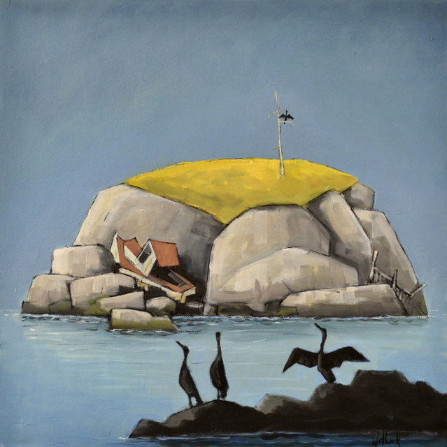"David Witbeck | Despair Island | Oil on Canvas | 24"" X 24"" 
