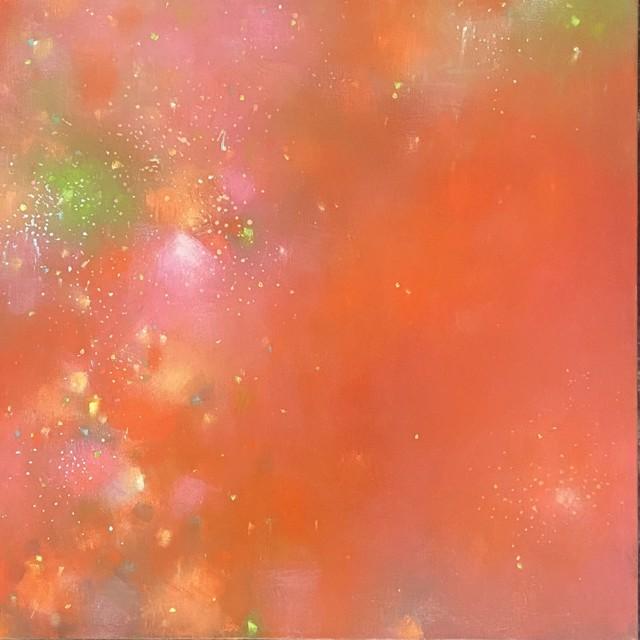 "Erika Manning | Dazzle | Oil on Canvas | 18"" X 18"" | $1,600.00"