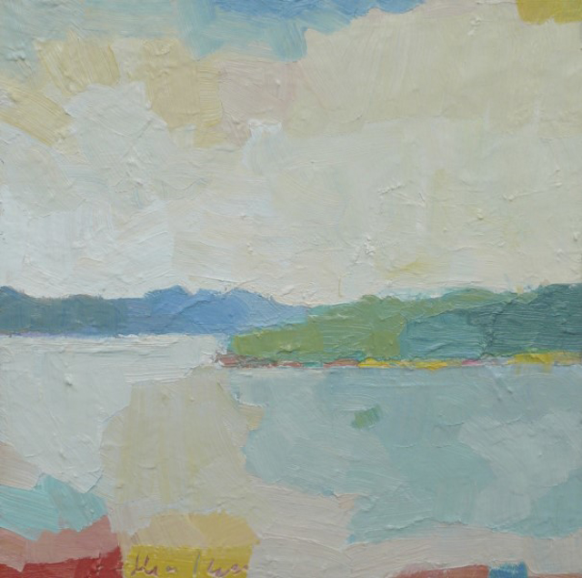 "Henry Isaacs | Vermont Lake #2 | Oil | 16"" X 16"" 