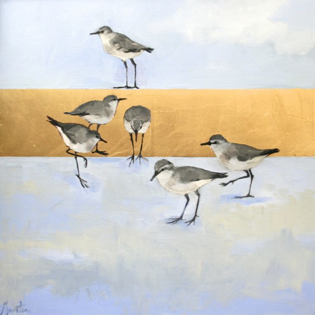 "Ellen Welch Granter | Wild | Oil and Gold Leaf on Canvas | 24"" X 24"" 