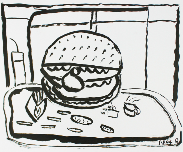 Hamburger in the Window
