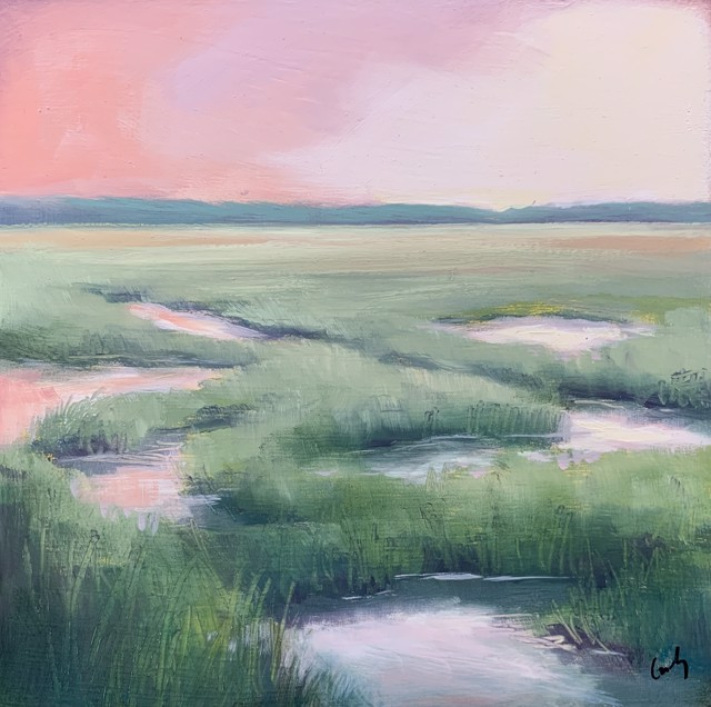 "Margaret Gerding   Maine Moments - Day 9   Oil on Panel   8"" X 8""   Sold"