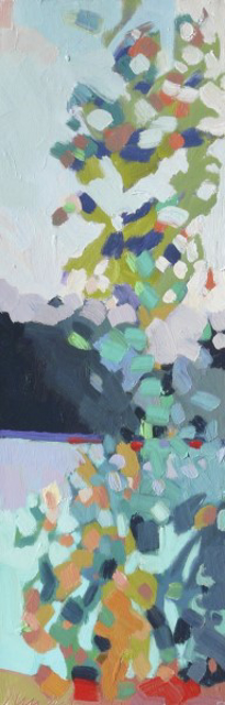 "Henry Isaacs | Kettle Pond #2 | Oil on Canvas | 24"" X 8"" 