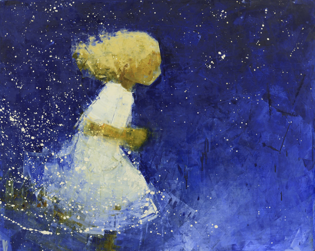 "Rebecca Kinkead | Traveler (Starry Night) | Oil and Wax on Linen | 48"" X 60"" 