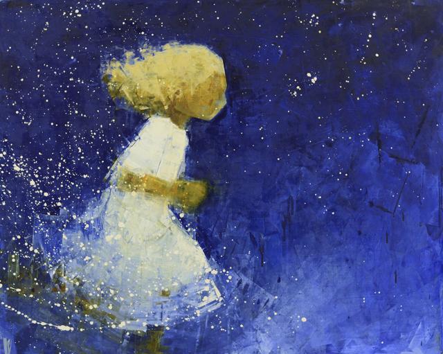 "Rebecca Kinkead | Traveler (Starry Night) | Oil and Wax on Linen | 48"" X 60"" | Sold"