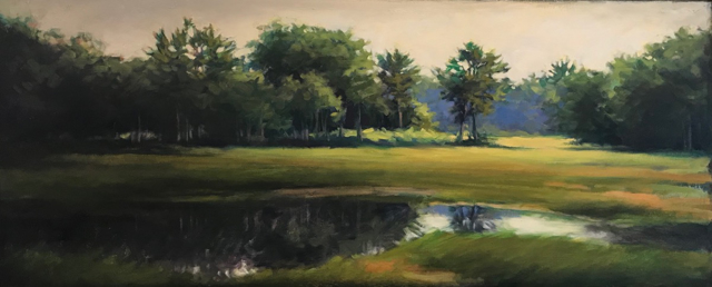 Trees Along the Bridle Path 10 x 24