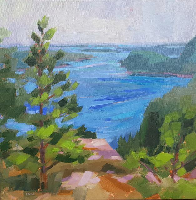 "Philip Frey | Near, Far | Oil on Canvas | 18"" X 18"" | $2,000.00"