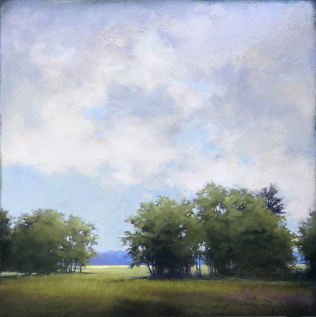 "Margaret Gerding | Warm Clouds Above | Oil on Panel | 30"" X 30"" 