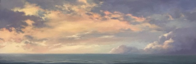 "Margaret Gerding | Long Ocean Sky II | Oil on Canvas | 18"" X 54"" 