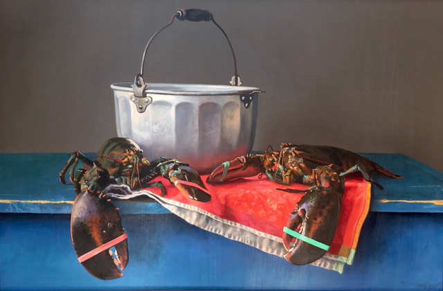 "William B. Hoyt | Port and Starboard | Oil on Canvas Mounted on Aluminum | 24"" X 36"" 