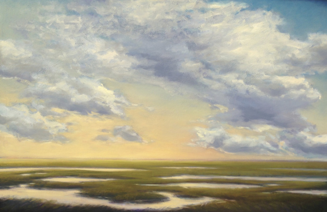 "Margaret Gerding | Cloud Colors | Oil on Canvas | 40"" X 60"" 