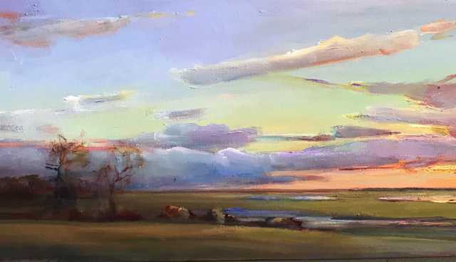 "Holly Ready | The Marsh Beyond | Oil on Canvas | 12"" X 24"" 