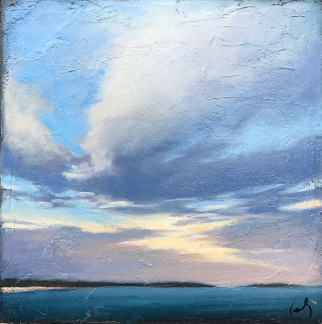 "Margaret Gerding | Timber Island III | Oil on Canvas | 10"" X 10"" | Sold"