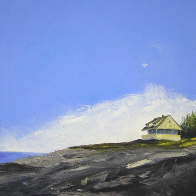 "Janis H. Sanders | Wild Coast | Oil on Canvas | 24"" X 24"" | Sold"
