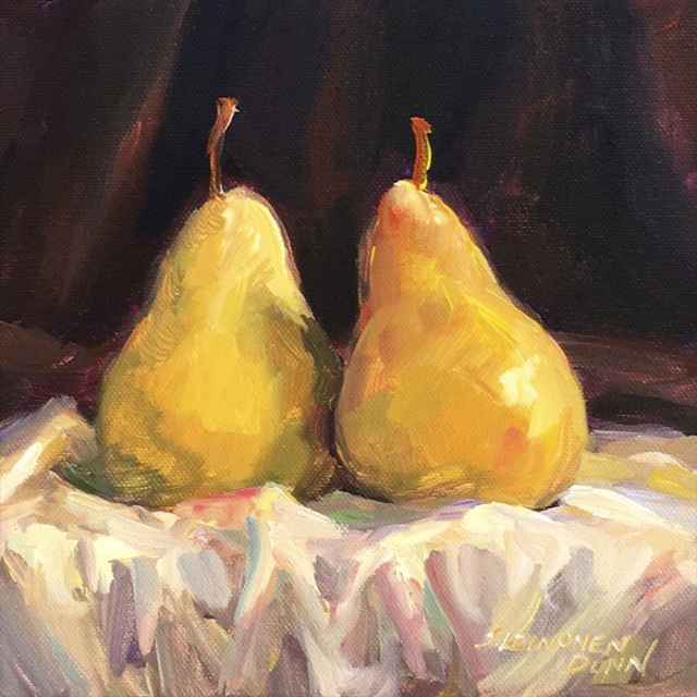 """Sandra L. Dunn   Together   Oil on Canvas   8"""" X 8""""   Sold"""
