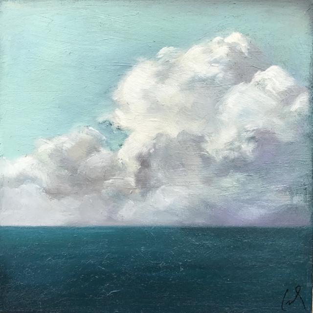 "Margaret Gerding | Ocean Clouds  | Oil on Canvas | 10"" X 10"" | Sold"