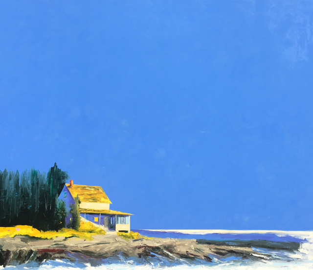 "Janis H. Sanders | Blue Island Skies | Oil on Panel | 48"" X 56"" 