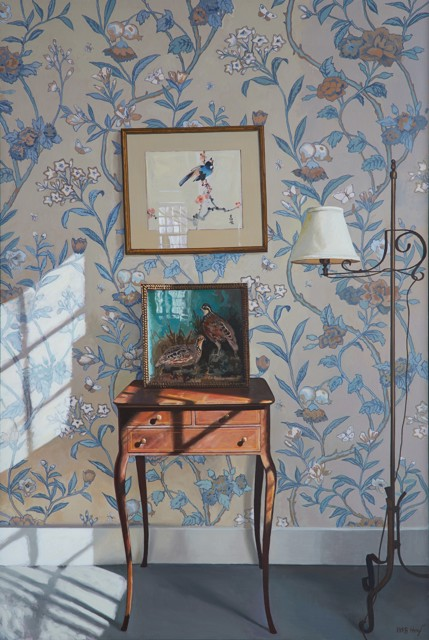 "William B. Hoyt | Birds | Oil on Canvas Stretched on Panel | 36"" X 24"" 