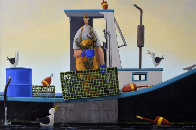 "David Witbeck | Maine Icon | Oil on Canvas | 48"" X 72"" 