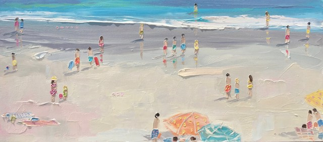 "Bethany Harper Williams | In the Sun and Salty Air | Oil | 32"" X 14"" 
